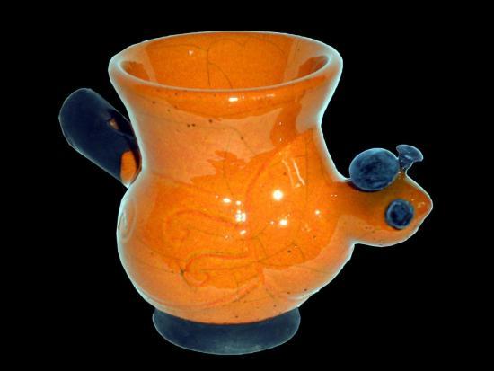 Coquetier Petit Robot Orange