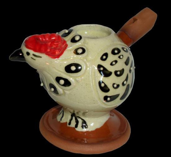 Poule Blanche Crete Rouge